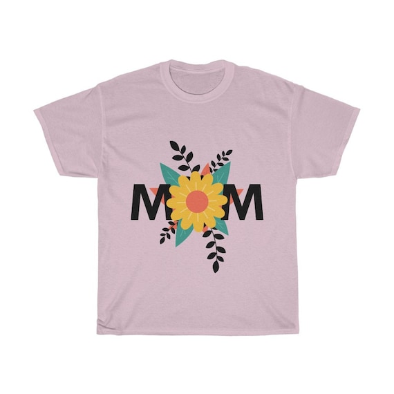 Mom Flower, 100% Cotton T-Shirt, Mother's Day