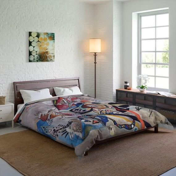 Kandinsky's In Gray Queen Comforter, Abstract