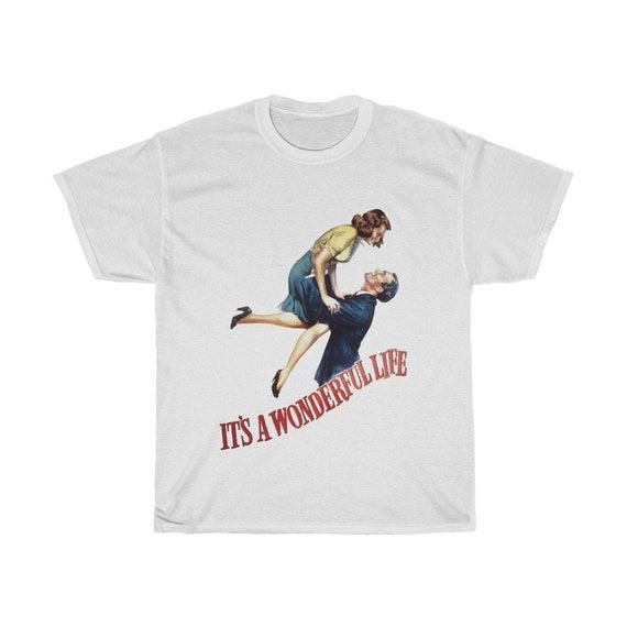 It's A Wonderful Life, Unisex T-shirt, Vintage 1946 Movie Poster, Jimmy Stewart, Frank Capra