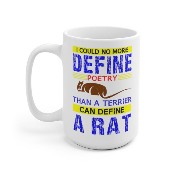 I Could No More Define Poetry Large White Ceramic Mug, Alfred Edward Housman Quote, Coffee, Tea