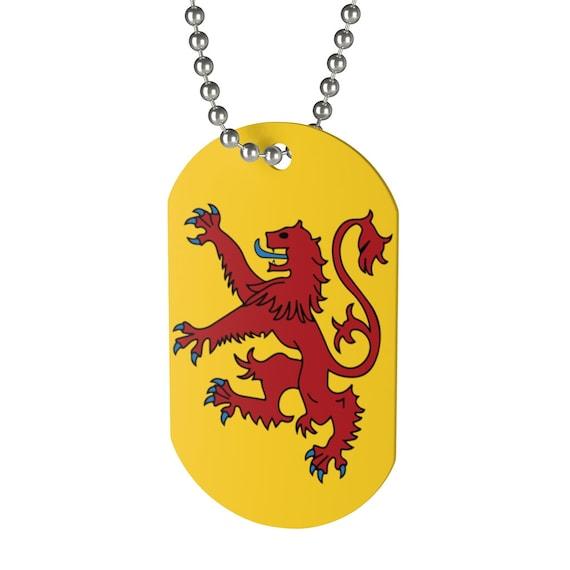 Lion Rampant of Scotland, Dog Tag, Royal Banner, Royal Arms, Scotland, Scottish Pride, Keychain