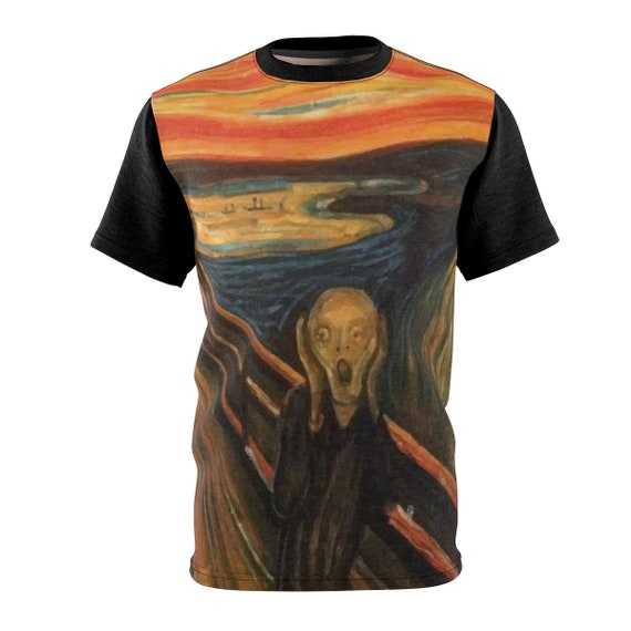 The Scream, Unisex T-shirt, Vintage Painting, Edvard Munch, 1893
