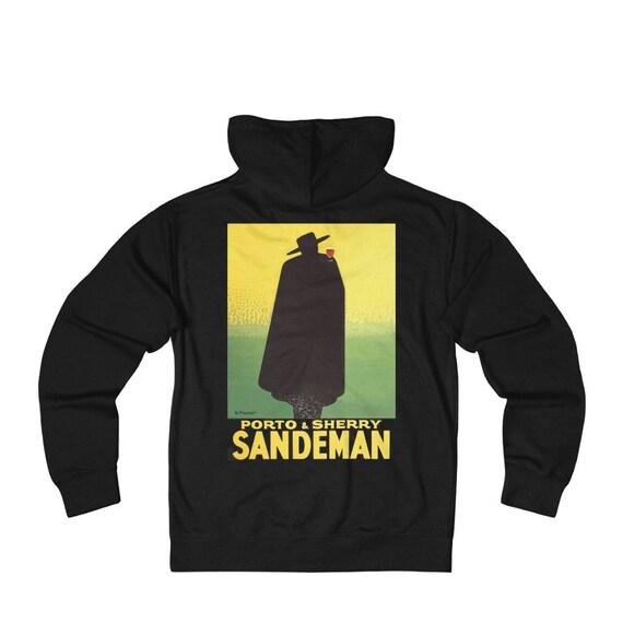 Sandeman, Unisex French Terry Zip Hoodie, Vintage Port Advertisement, FREE SHIPPING WORLDWIDE