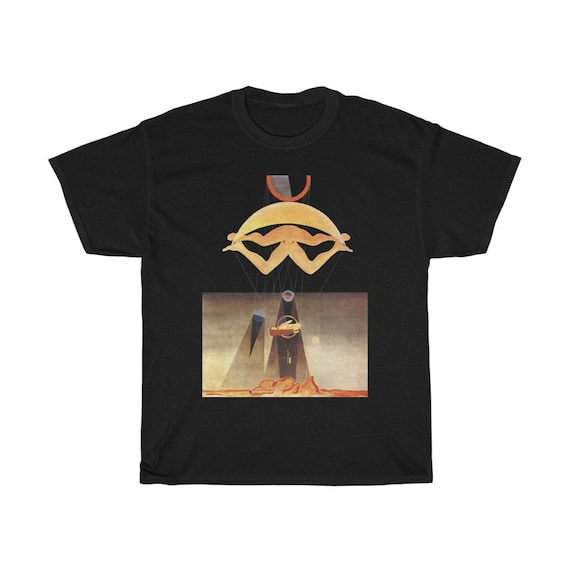 Of This Men Shall Know Nothing, Black Unisex T-shirt, Surrealism, Max Ernst