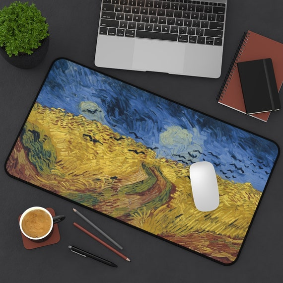 Wheat Field With Crows Desk Mat, Vincent Van Gogh