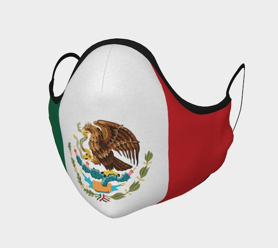 Mexican Eagle, Face Mask, 7 Sizes, Filter Pocket, Filters, 100% Cotton, Flag Of Mexico