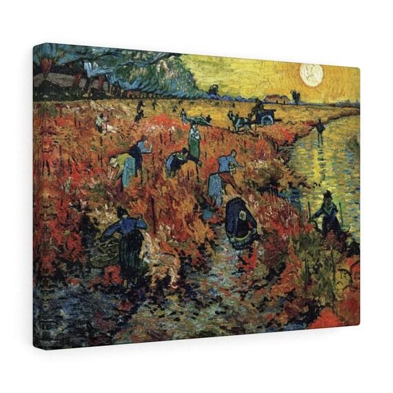 Red Vineyard at Arles Canvas Gallery Wrap, Vincent Van Gogh, 1888