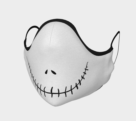 Nightmare Jack, Face Mask With Filter Pocket, Filters Included, 7 Sizes, 100% Cotton