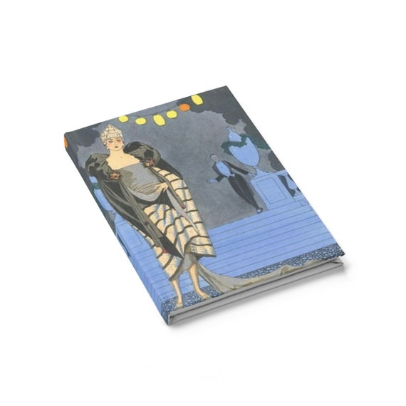 Roaring Twenties Party, Hardcover Journal, Ruled Line, Vintage Jazz Age Illustration