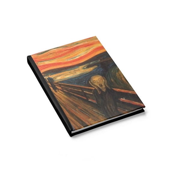 The Scream, Hardcover Journal, Ruled Line, Vintage, Antique Painting, Edvard Munch, 1893
