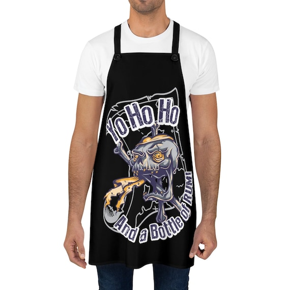 Pirate Skull, Cookout Apron, Yo Ho Ho And A Bottle Of Rum