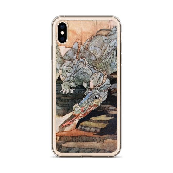 Here Be Dragons,  iPhone Case, Vintage Art Nouveau Illustration