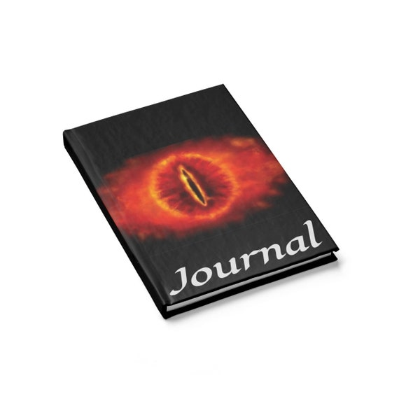 Eye Of Sauron, Hardcover Journal, Ruled Line, Lord Of The Rings Inspired