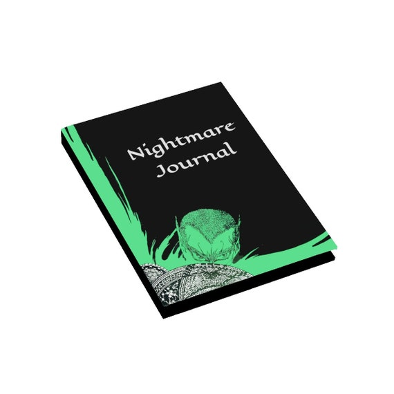 Nightmare Journal, Hardcover Journal, Ruled Line, Opens Flat, Jazz Age Vintage Illustration, Harry Clarke