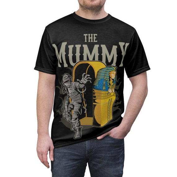 The Mummy, Unisex T-shirt, Halloween, Vintage Retro Style Design, Horror Movie, Pop Culture