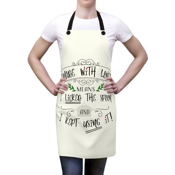 Made With Love, Kitchen Apron, Funny Saying, Chef, Cook