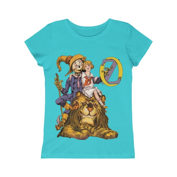 Dorothy, The Scarecrow & The Cowardly Lion, Girls Princess Tee, Blue, Wizard Of Oz