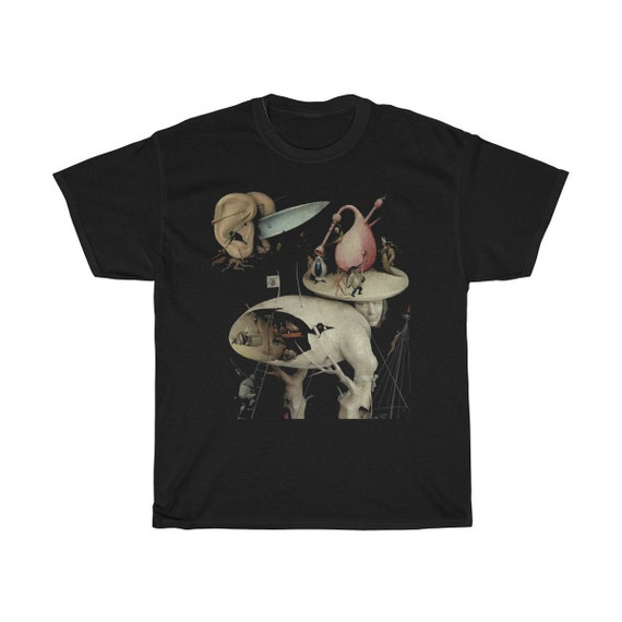 Tree Man, Black Unisex T-shirt, Surreal, Hieronymus Bosch, The Garden of Earthly Delights
