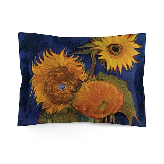 Six Sunflowers Pillow Sham, Vincent Van Gogh