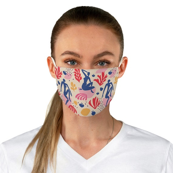 Blue Nude, Cloth Face Mask, Washable, Reusable, Inspired By Henri Matisse