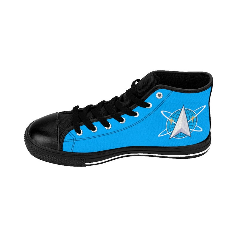 The Original Series Blue Men/'s High-top Sneakers Inspired By Star Trek Space Command