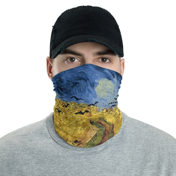 Wheat Field With Crows, Neck Gaiter, Vincent Van Gogh, Headband, Bandana