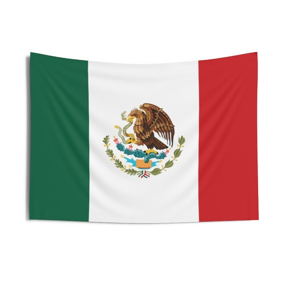 Mexican Eagle, Indoor Wall Tapestry, Flag Of Mexico, Wall Decor, Room Decor