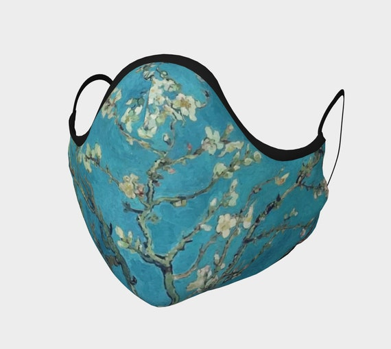 Almond Blossoms,  Face Mask, 7 Sizes, Filter Pocket, Filters, 100% Cotton, Free Worldwide Shipping, Vincent Van Gogh