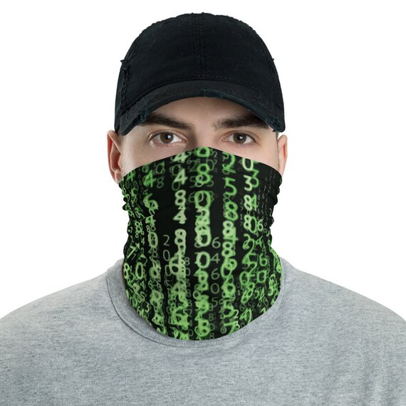 The Matrix Code, Neck Gaiter, Inspired By The Matrix Movie