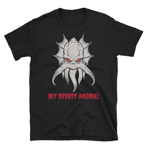 My Spirit Animal, Short-Sleeve Unisex T-Shirt, H.P. Lovecraft Inspired, Old Ones, Demon, Monster