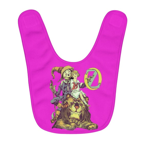 Dorothy, The Scarecrow & The Cowardly Lion, Fleece Baby Bib, Pink, Wizard Of Oz