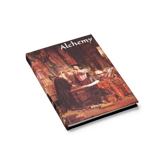 Alchemy, Hardcover Journal, Ruled Line, Vintage Painting, William Fettes Douglas, 1853