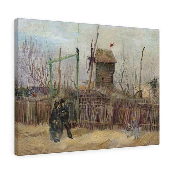 Street Scene In Montmartre v1 Canvas Gallery Wrap, Vincent Van Gogh, 1887