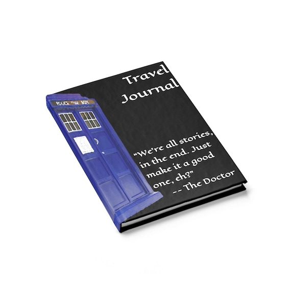 TARDIS, Travel Journal, Hardcover, Ruled Line, Vintage Painting, Inspired From Doctor Who