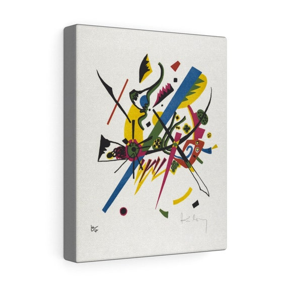 """Small Worlds #1, 8""""x10"""" Gallery Canvas, Wassily Kandinsky, Circa 1922, Abstract"""