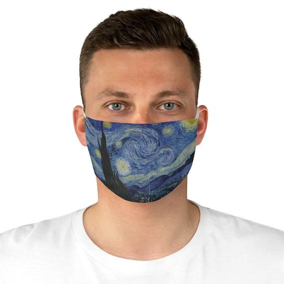 Starry Night, Cloth Face Mask, Washable, Reusable, Vincent Van Gogh