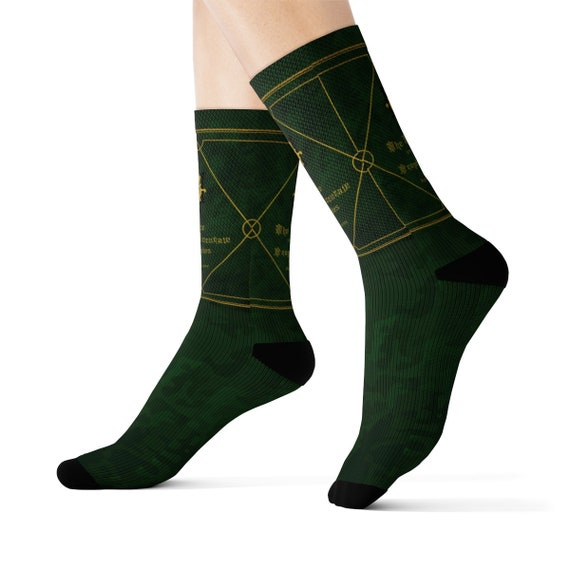 The Nice and Accurate Prophecies of Agnes Nutter, LARGE Crew Socks, Inspired By Good Omens