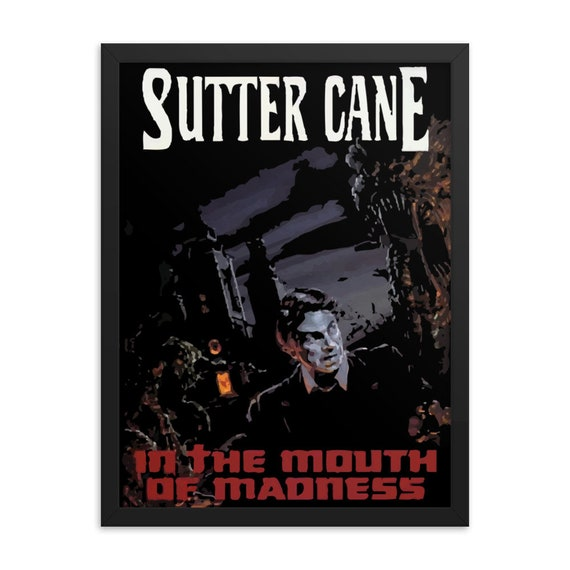 """In The Mouth Of Madness, 18"""" x 24"""", Framed Giclée Poster, Black Wood Frame, Acrylic Covering, Sutter Cane Cosmic Horror Novel, Lovecraft"""