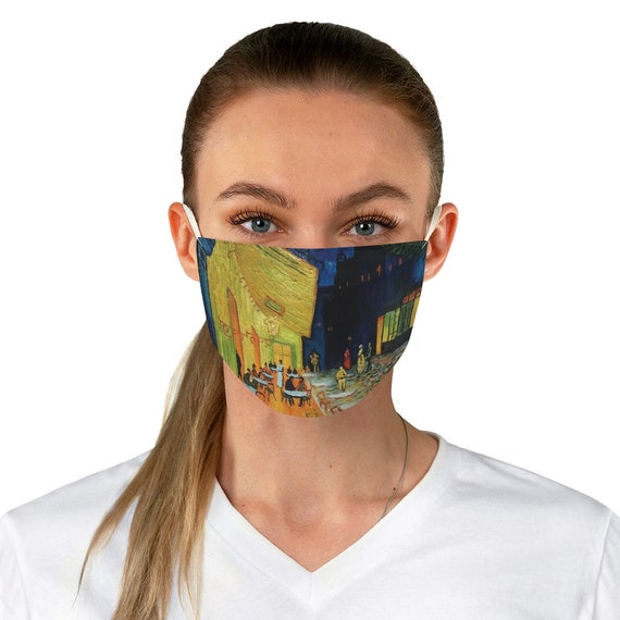 Cafe Terrace At Night, Cloth Face Mask, Washable, Reusable, Vincent Van Gogh