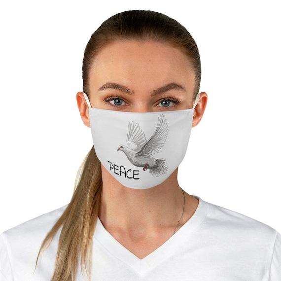Peace Dove, Cloth Face Mask, Washable, Reusable, Activism
