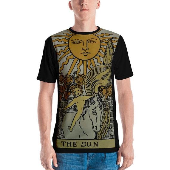 The Sun Tarot Card, Unisex T-shirt, Vintage, Antique Illustration, AOP
