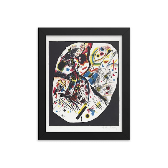 """Small Worlds #3, 8""""x10"""" Framed Giclée Poster, Black Wood Frame, Acrylic Covering, Wassily Kandinsky, Circa 1922, Abstract"""