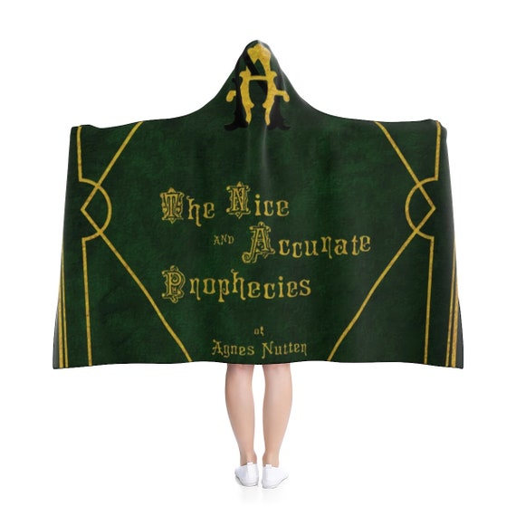 "Nice And Accurate Prophecies of Agnes Nutter, 80""x56"" Hooded Blanket, Good Omens"