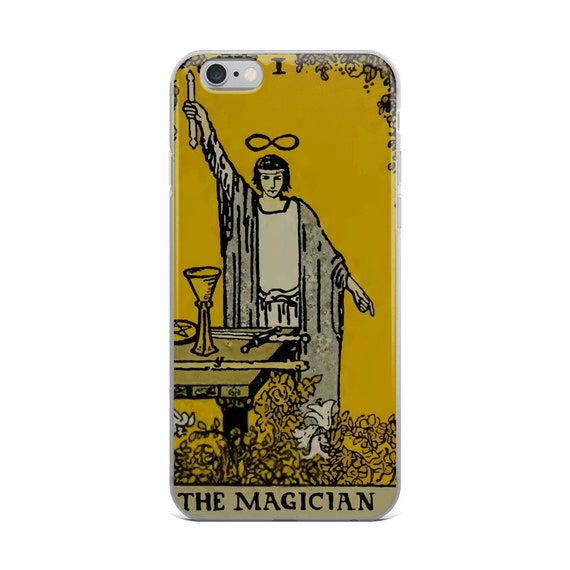 The Magician Tarot Card, iPhone Case, Vintage Illustration