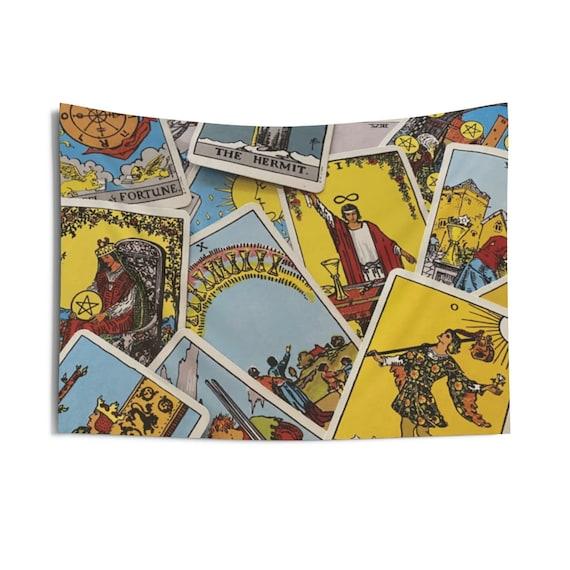 Tarot Card Tapestry, Major & Minor Arcana From A Vintage Rider-Waite Deck