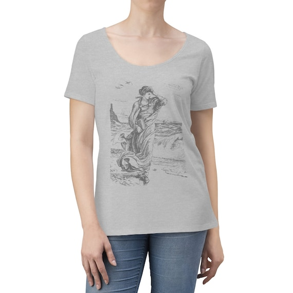 Minerva, Roman Goddess Of Wisdom, Women's Scoop Neck T-shirt, 1886 Vintage Illustration