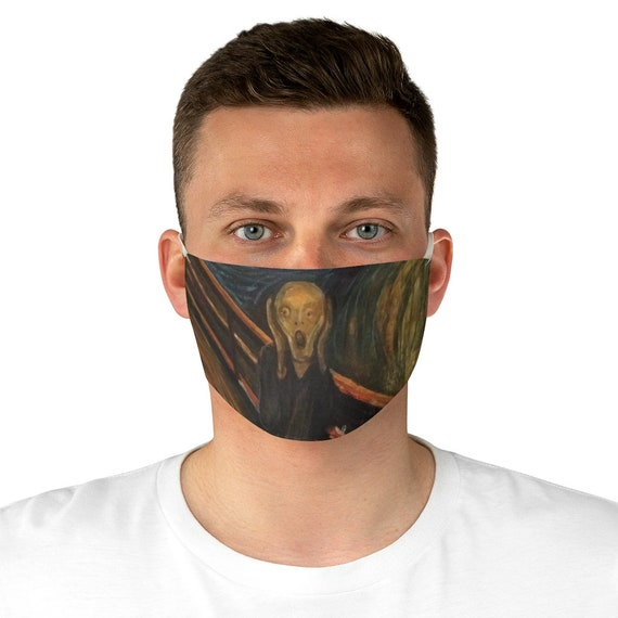 The Scream, Cloth Face Mask, Washable, Reusable, Edvard Munch