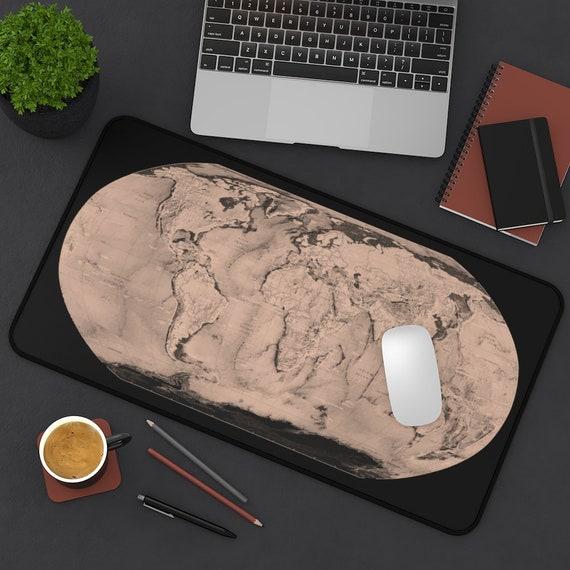 Sepia World, Desk Mat, World Map