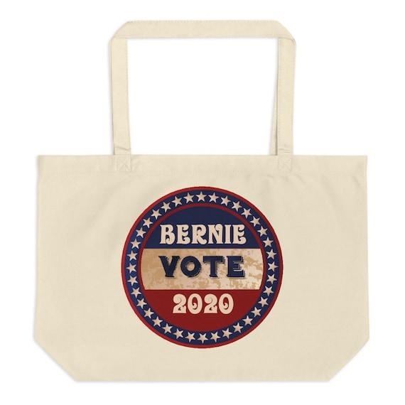 Vote Bernie 2020, Large Organic Tote Bag