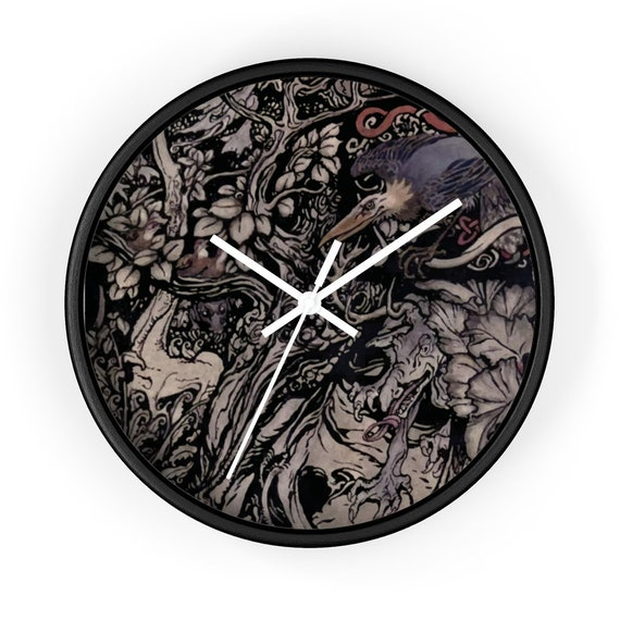 "Irish Fairy Tales, 10"" Wall Clock, Vintage Illustration By Arthur Rackham"